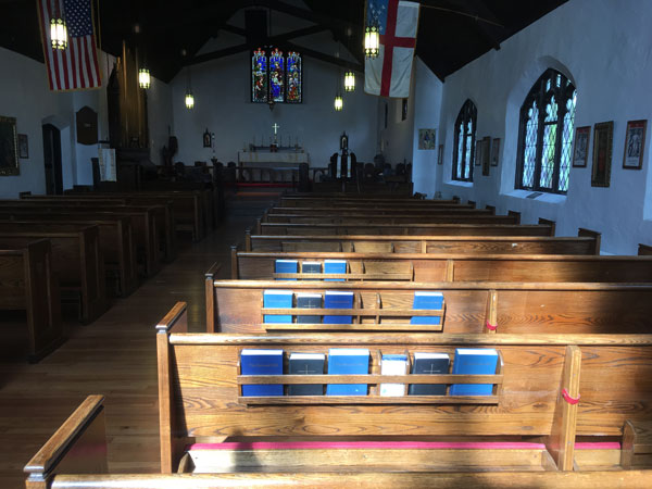 Fredell Holy Trinity Hymnal Racks