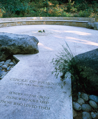 AIDS MEMORIAL GROVE - DEDICATION